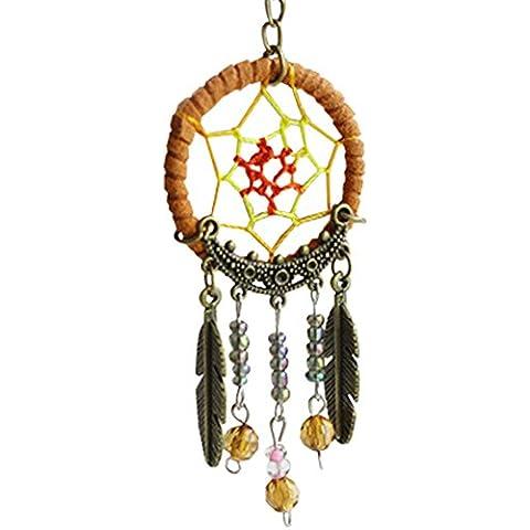 LaoZan Llavero Dreamcatcher Charm Ornamento Hecho A Mano Metálico - Verde