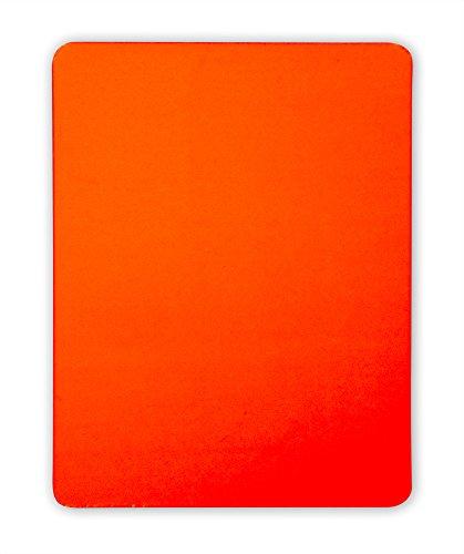 handball fanshirts. de Rote Karte für Schiedsrichter 9 x 12 cm PVC neonfarben regelkonform ohne Logo