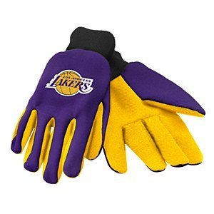 Forever Collectibles NBA farbigen Palm Handschuh, Unisex, GLVWKNB15LAL, Los Angeles Lakers, Einheitsgröße (Farbige Fußball-handschuhe)