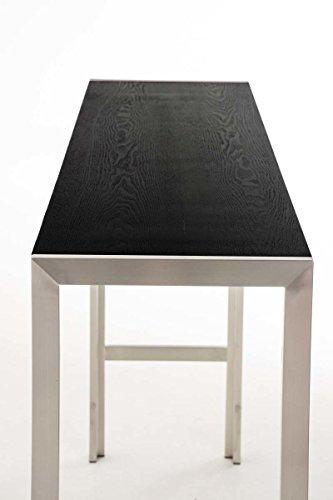 CLP Tavolo da bar CANBERRA in acciaio inossidabile, tavolo da cucina ...