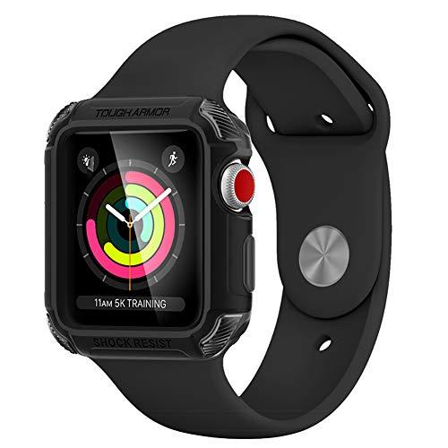 HECHEN Apple Watch2 / 3 Generation Smart Watch Case Sportschutzhülle 42Mm - Resistent Gegen Absturz, Kratzfest,Black,42Mm