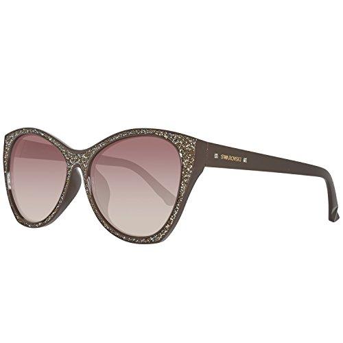 Swarovski sk0108f-5948f, occhiali da sole donna, marrone (shiny dark brown), 59