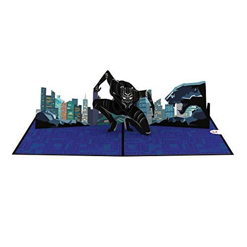 Lovepop and Marvel Black Panther Pop-Up-Karte Black Panther Geburtstagskarte Pop-Up Grußkarten Geburtstagskarten (Masse In Der Superhelden-masken)