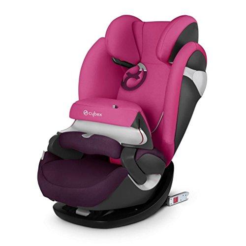 Cybex gold 517000187 pallas m-fix seggiolino auto, per bambini dai 9 mesi ai 12 anni, rosa, 9-36 kg