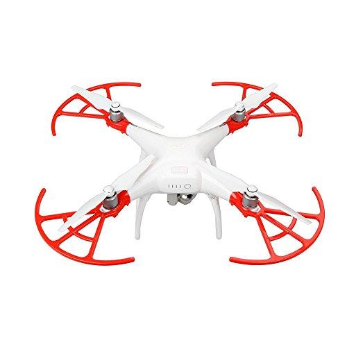 Anbee 4 Stücke Schnellspanner Propeller Schutz Luftschraube Stoßstange Satz für DJI Phantom 4 Quadcopter, Rot