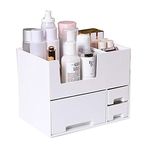 Makeup Organizer Aufbewahrungsfächer Zubehör Aufbewahrung, groß, Zwei Ebenen Stapelbar, 3 Schubladen, Kosmetik, Schmuck, Parfüm