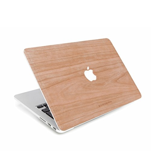 Woodcessories Skin kompatibel mit MacBook 13 Air & Pro aus Holz - EcoSkin (Kirsche)