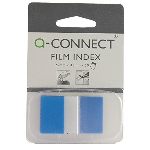 q-connect-1-inch-page-marker-blue-pack-of-50