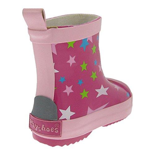 GALLUX - Kinder Gummistiefel Regenstiefel Mädchen und Jungen Kurzschaftstiefel Pink/Rosa