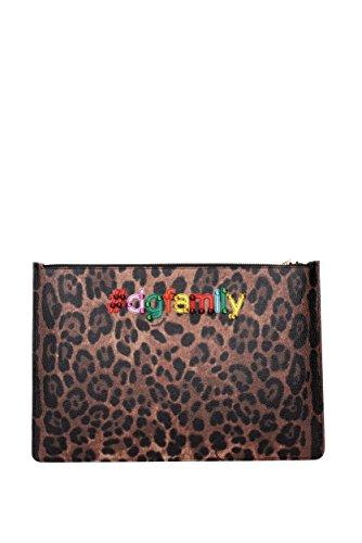 "Borse a Mano Dolce&Gabbana "" patch d&g family "" Donna - Pelle (BI2182AG351) Marrone"