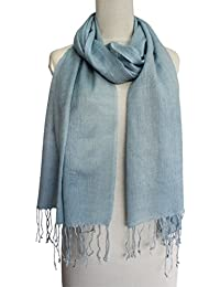 Vozaf Women's Silk Wool Shawls - Blue