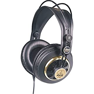 AKG K240 STUDIO Professional Semi-Open, Over-Ear Studio Headphones - Black