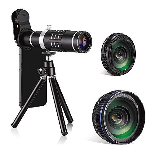 MCJL 18X-Handy-Kamera-Objektiv, universelles Teleclip-Teleskop, kompatibel mit iPhone Samsung Huawei...