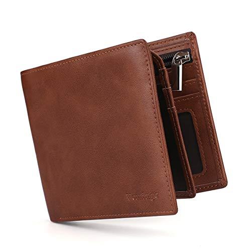 Vemingo Cartera para Hombre con Clip,Monedero con RFID Bloqueo para Tarjetas de Crédito Portamonedas Ligeros para Hombre/Adolescente