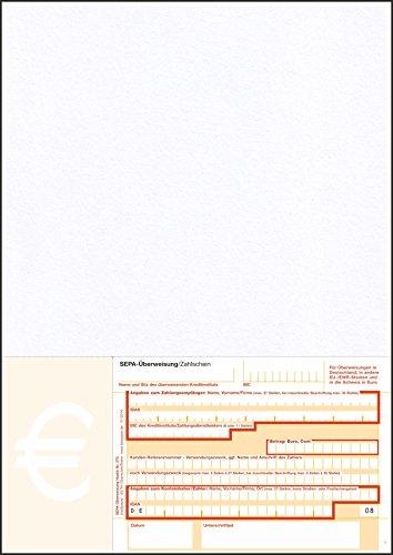 Bits&Paper HU270 - SEPA-Überweisung/Zahlschein, 500 Blatt, A4, bankneutral