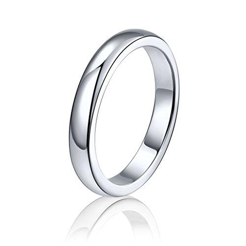 Herren Ring 925 Sterling Silber Weißes Gold überzogen Ring Schmuck ()