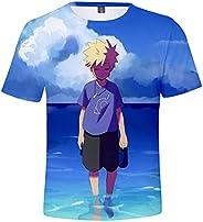 Hifoda Camiseta para Niños y Niñas Naruto Anime Japonés 3D Manga Corta Cosplay Dibujos Animados Tops