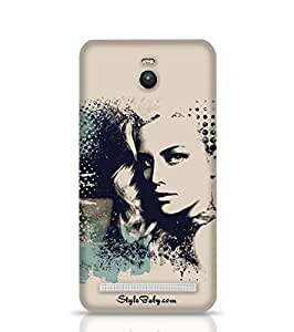 Stylebaby A Pretty Girl And Painted Blots Asus Zenfone 2 Phone Case