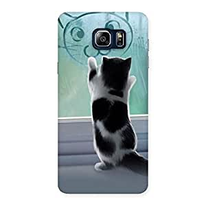 Special Cute Kitty Face Print Back Case Cover for Galaxy Note 5