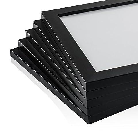 färberröten Range weiß Bilderrahmen, Größen in Zoll * für Zuhause und Büro * größte Größe Auswahl., acryl, Black Pack of 3, A3 (29,7x42 cm)