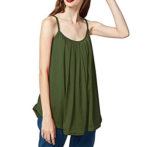 KIMODO Damen Lose ärmellose Tank Top Einfarbig Camisole Weste Plus Size T-Shirt Bluse Sommer Oberteile Große Größen
