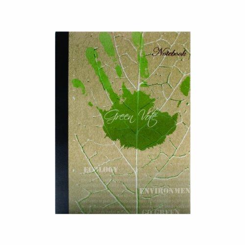 canefields Eco Serie Zuckerrohr Papier Handwerker Notebook, 21x 29,7cm, 192linierte Seiten, grün Design Planet Cover (cnf68957) 192 Eco - Green Vote -