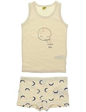 CeLaVi Conjunto de ropa interior para niña, Camiseta de tirantes y pantalón corto, Estampado de leopardo, 4524