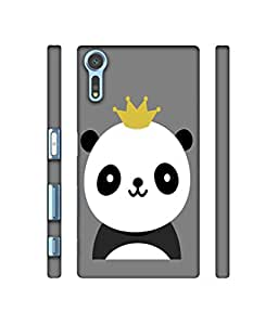 NattyCase Taddy Bear Design 3D Printed Hard Back Case Cover for Sony Xperia XZs