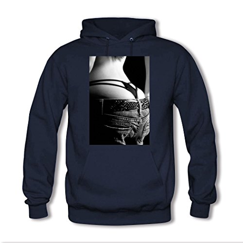 weileDIY Sexy Girls DIY Custom Women's Printed Hoodie Sweatshirt Navy_B