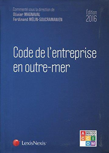 Code de l'entreprise en outre-mer 2016