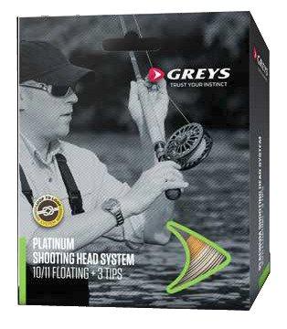 Greys Platinum Shooting Head System Fly Line mit 3Tipps Kit