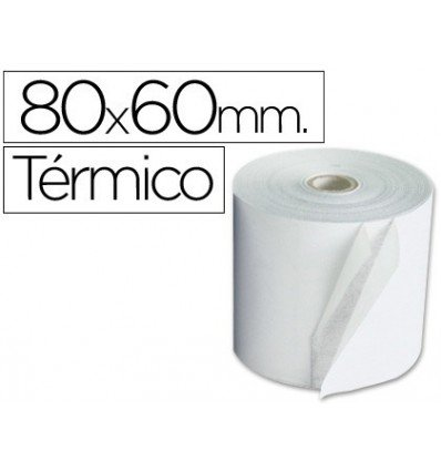Pack 8 Rollos Papel Termico 80mm X 60mt
