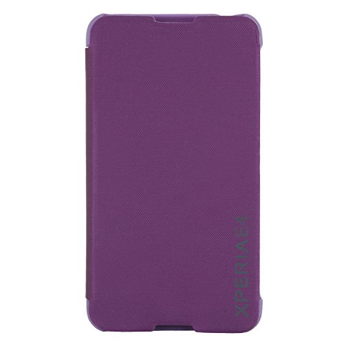 DMG Premium Diary Flip Book Cover Case for Sony Xperia E4 (Purple)  available at amazon for Rs.199