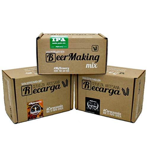 Pack de 3 recharges pour brasser 3 sortes de bière à la maison....
