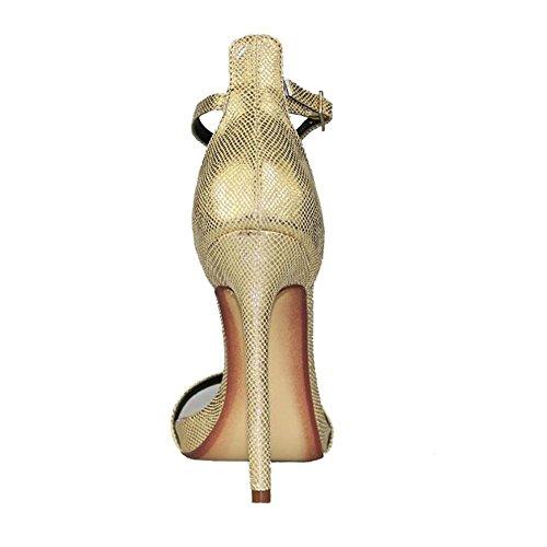 Été en cuir véritable des femmes Super Value or T Parole avec des sandales Stiletto creux 40