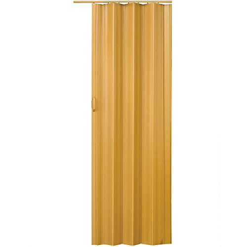 TecTake Puerta plegable de plástico 80 x 203 cm, PVC Puertas plegable