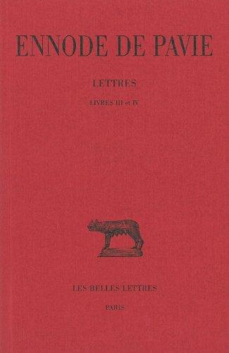 Lettres. Livres III et IV par Ennode de Pavie