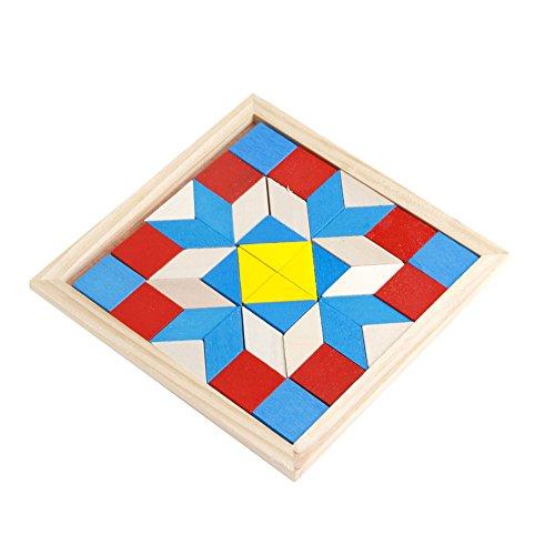 Preisvergleich Produktbild LDA GET Fresh Kinder Spielzeug aus Holz Tangram,  Entwicklungs Brain Teaser Puzzle Tetris Spiel Kinder Baby Spielzeug