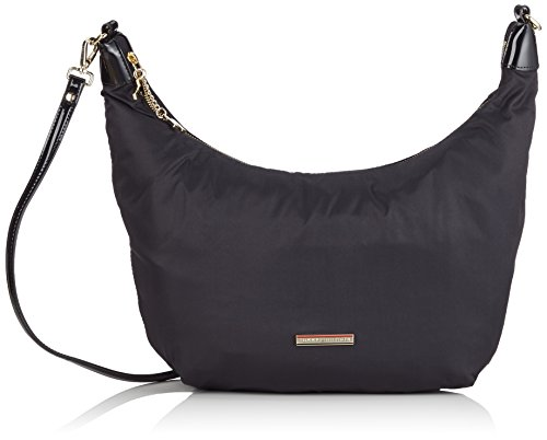 Tommy Hilfiger Chico Small Hobo Borsa, Donna, Colore Black/ Black 908