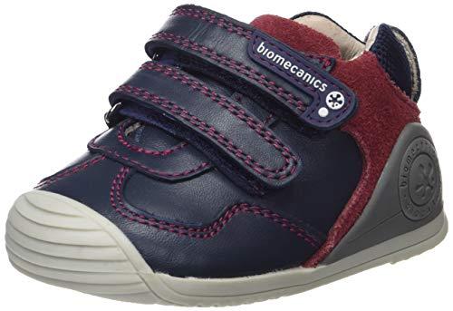 Biomecanics 181147, Zapatillas de Estar por casa para Bebés 181147/B/Amz Azul Marino Y Burdeos (Sauvage Y Serraje), 24 EU
