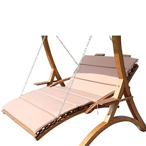 ASS Design Hängeliege Doppelliege Hollywoodliege Doppelliege aus Holz Lärche Modell: 'Macao-Lounger' (ohne Gestell) von