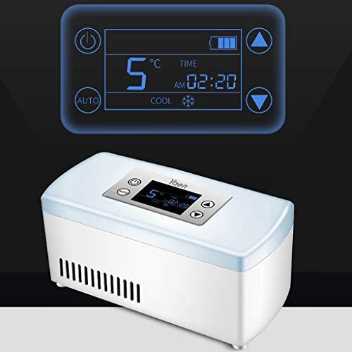 41iu9uXa3JL - Drug Reefer, mini refrigerador, caja de insulina para diabetes, caja de insulina para automóvil, refrigerador para automóvil, refrigerador portátil pequeño para medicamentos (blanco) Edición estándar