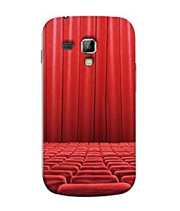 PrintVisa Designer Back Case Cover for Samsung Galaxy S Duos S7562 (The Theatrical Arrangement Of Chairs In Red)