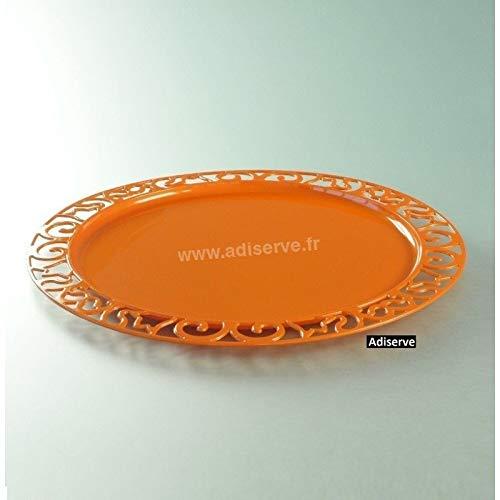 Adiserve sous-Assiette Ronde 30 cm Orange par 4