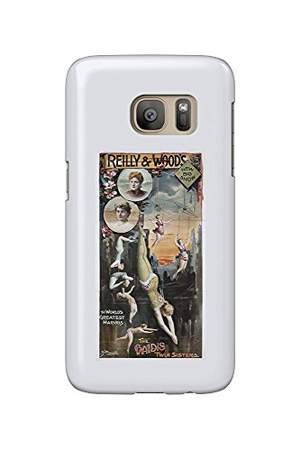 Reilly and Wood's New Big Show - The Vaidis Twin Sisters Vintage Poster USA (Galaxy S7 Cell Phone Case, Slim Barely There) -