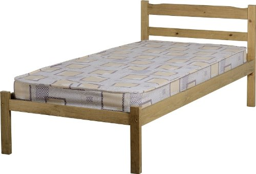 Panama 3' Bunk Bed Frame Solid Pine Distressed Waxed Pine