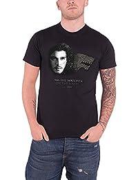 Game Of Thrones Watcher On The Walls Jon snow Herren Nue Schwarz T Shirt