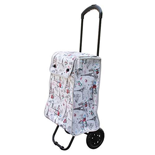 WUFENG Einkaufstrolley Tragbar Leicht Zu Dehnen Faltbar Haushalt Flexibel Und Leicht (Farbe : Bunte, größe : 41x31.5x102cm)
