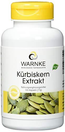 Kürbiskern-Extrakt 500mg - Kürbiskern Plus Vitamin E & Selen - hochdosiert - 100 Kapseln - Hergestellt in Deutschland