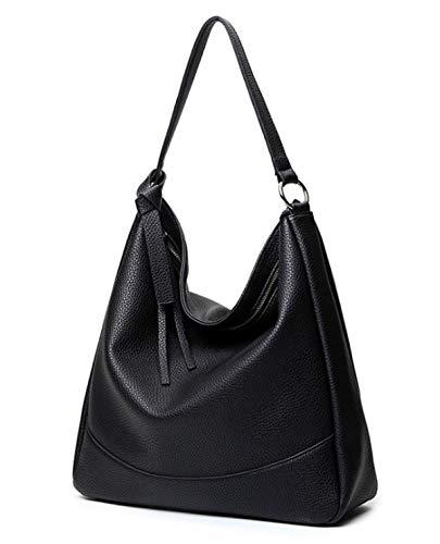 Ateasy HB0000069 winter handtasche damen tasche sale schultertaschedamenschwarz damenhandtascheleder umhängetaschemädchen einkaufstasche groß aktentasche schwarz (sschwarz)